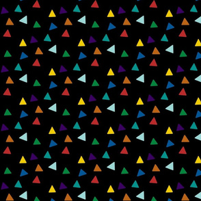 Triangles - Multicolor & Black