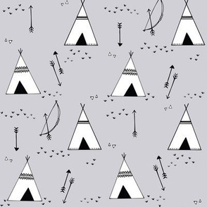 teepees__bows___arrows__on_grey