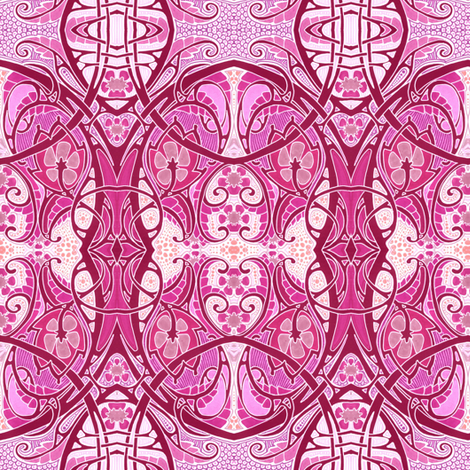 Hot Pink with a Twist fabric by edsel2084 on Spoonflower - custom fabric