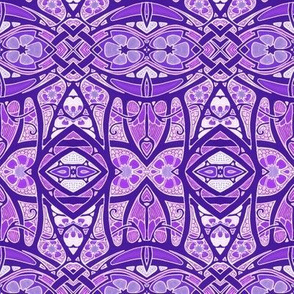 Purple Deco Geometry