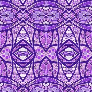 Purple Deco Geometry