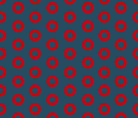 FISHMAN DONUTS Original 3.25 inch fabric by youenjoymygoods on Spoonflower - custom fabric