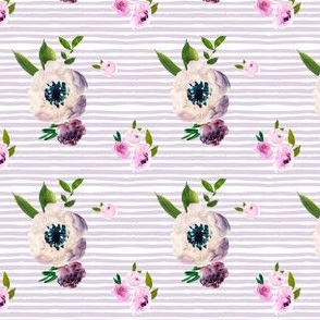 """2.6"""" Dark Grey Beauty with Lilac Stripes"""