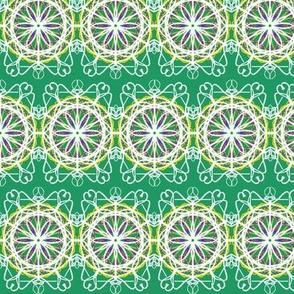 Starflower Lacework on Jade