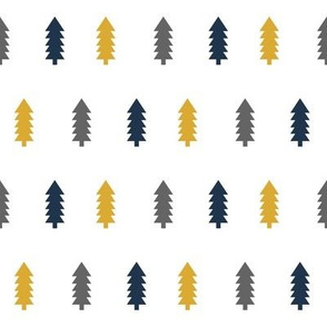 trees forest gold charcoal navy blue tree fabrics navy blue fabrics