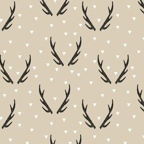 antlers // baby nursery antlers antler fabric khaki baby nursery