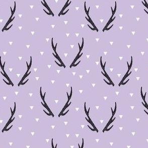 antlers // purple pastel purple lilac antler baby nursery design