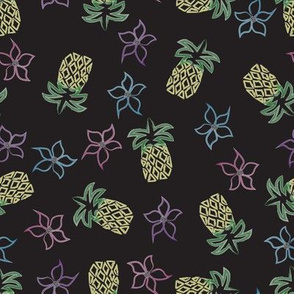 Pineapples and Flowers