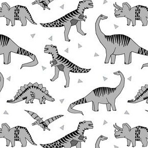 dinosaur // dinos grey fabric baby design andrea lauren dinos fabric