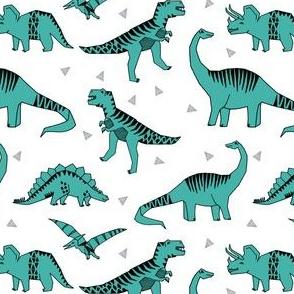 dinosaur // turquoise dinos fabric dinosaurs design andrea lauren fabric baby turquoise design