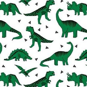 dinosaurs // green dino fabric trex prehistoric jurassic fabric andrea lauren design