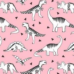 dinosaurs // pink dino fabric jurassic prehistoric dino fabric girls baby dinosaur design