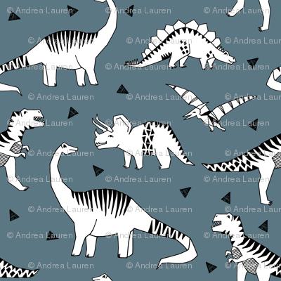 dinosaur // blue grey dinosaur fabric baby nursery baby boy design andrea lauren fabric