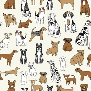 dogs // cream dog fabric pet dog design pets pet design
