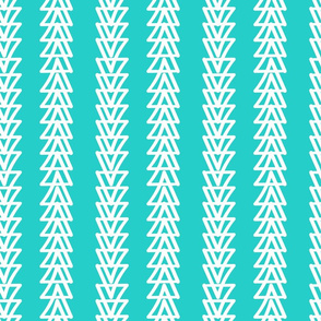 Straight as an Arrow- Turquoise Tea Towel