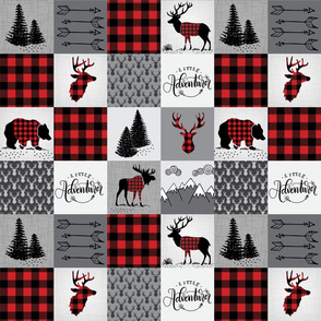Buffalo plaid patchwork faux quilt - 12 inch repeat