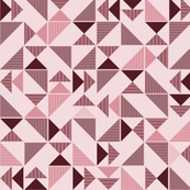 triangles in pink and bordeaux