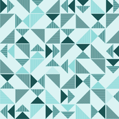 triangles in mint and green