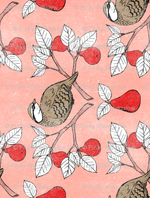 Partridge in a Pear Tree - Teatowel rotation