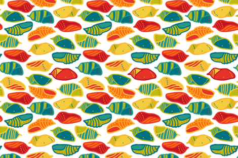 Chrysalis_Teatowel_Rotate fabric by pinky_wittingslow on Spoonflower - custom fabric