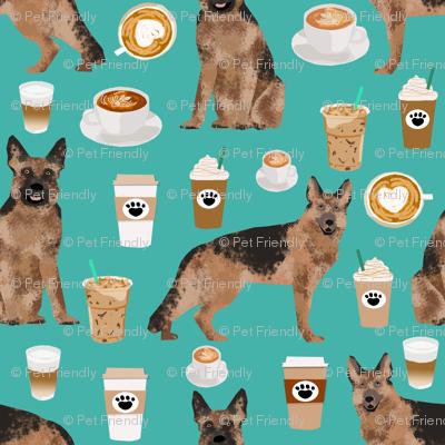 coffee and dogs fabric german shepherd coffees design cute dog fabric