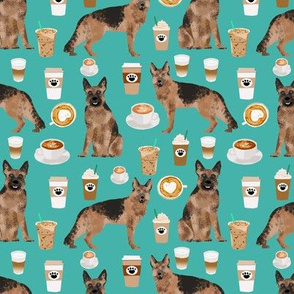 coffee and dogs fabric german shepherd coffees design cute dog fabric