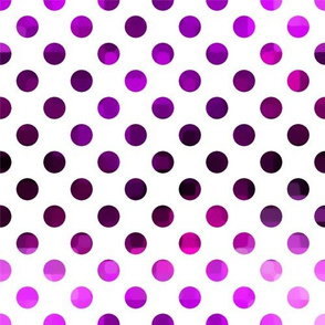Purple Polka Dot on White