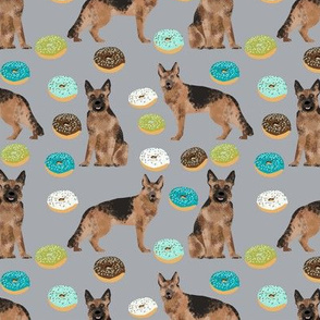 donuts german shepherd fabric pastel german shepherd design food fabric