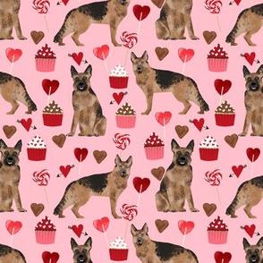 german shepherd valentines love fabric dog love hearts fabric