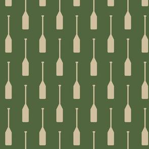 Paddles  // Tan on Timber green