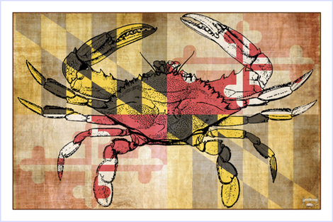 Maryland Crab fabric by pigtowndesign on Spoonflower - custom fabric