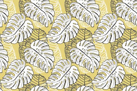 Tropical Jungle Warm Khaki fabric by lulabelle on Spoonflower - custom fabric