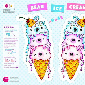 Bear Ice Cream Pillow
