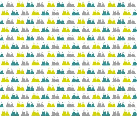 Aztec Mountains- spring fabric by drapestudio on Spoonflower - custom fabric