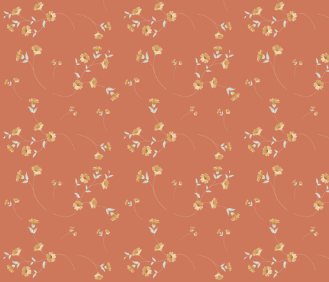 oragne-loose fabric by hudsondesigncompany on Spoonflower - custom fabric
