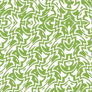 Fresh green art deco zigzag