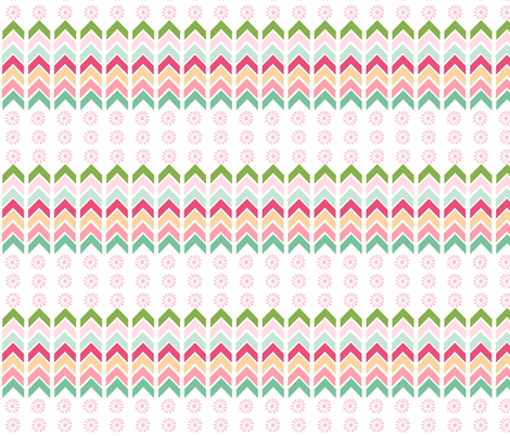 Aztec ChevronTotem - pink fabric by drapestudio on Spoonflower - custom fabric