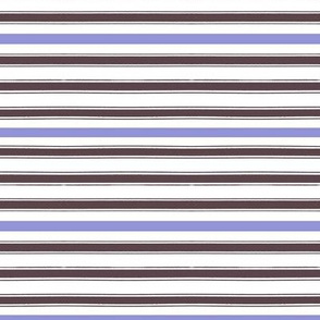 French Ticking Purple Stripe