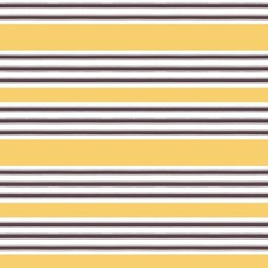 French Ticking Wide Golden Stripe