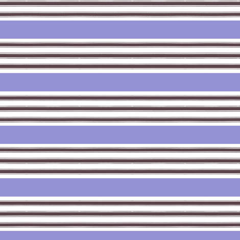 French Ticking Lavender Stripe fabric by lilafrances on Spoonflower - custom fabric