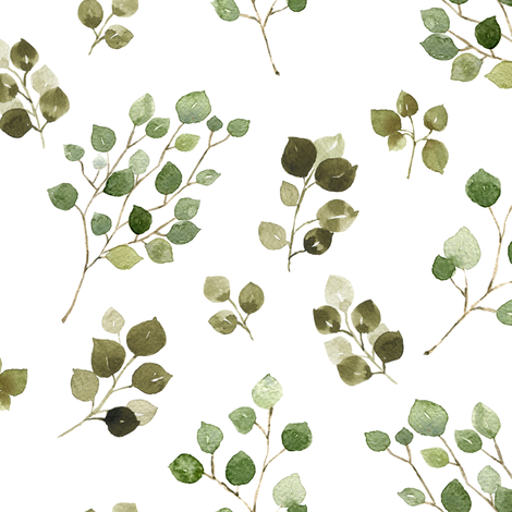 Eucalyptus  fabric by mintpeony on Spoonflower - custom fabric