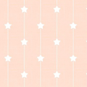 Polka Dot Star Path in Peach