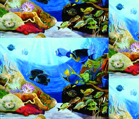 Angels_on_the_Reef fabric by lindakegley on Spoonflower - custom fabric