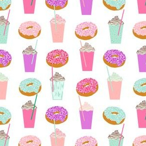 pastel coffee and donuts pastels girls sweet foods sugar