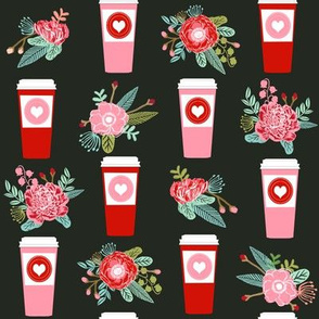 coffee valentines love fabric coffees lattes best love hearts design