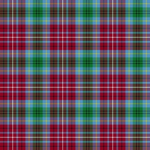 "British Columbia official tartan, 6"" blue"