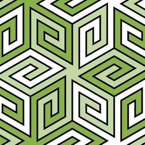 greek cube : spring green