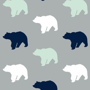 Multi Bear on grey // Northern Lights