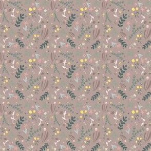 Floral Design - Brown