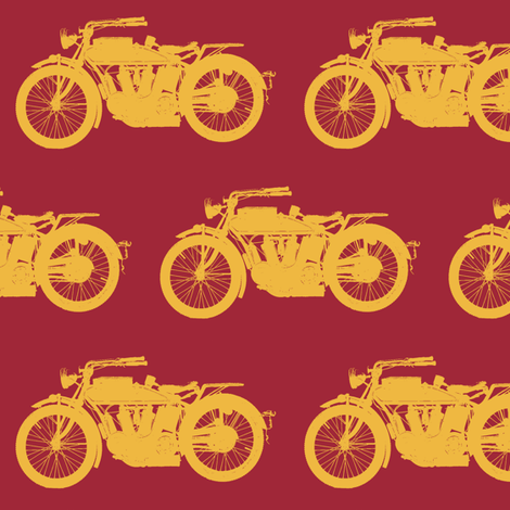 Antique Indians - Red & Gold // Large fabric by thinlinetextiles on Spoonflower - custom fabric